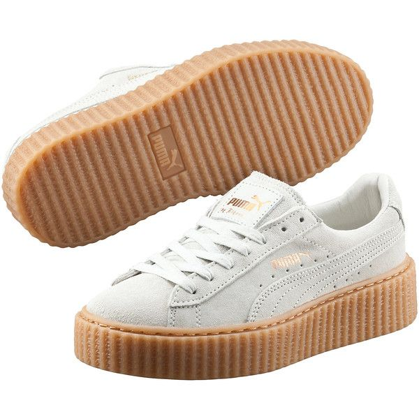 Puma PUMA BY RIHANNA WOMEN'S CREEPER ($120) ❤ liked on Polyvore featuring shoes, punk rock shoes, puma footwear, suede lace up shoes, puma shoes and platform shoes