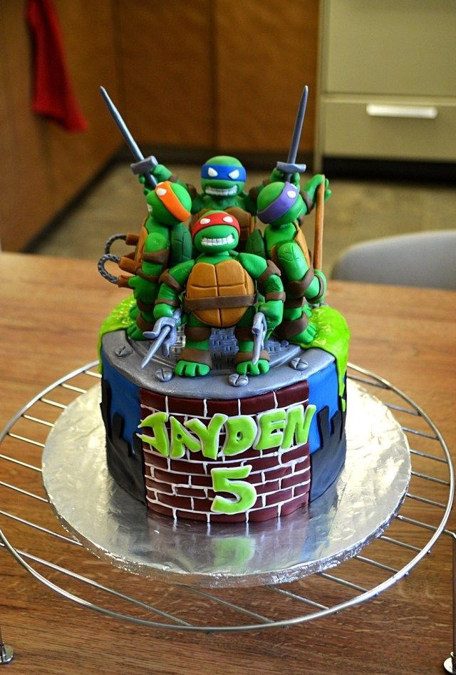 Marvelous 26 Beautiful Image Of Teenage Mutant Ninja Turtles Birthday Cakes Funny Birthday Cards Online Elaedamsfinfo