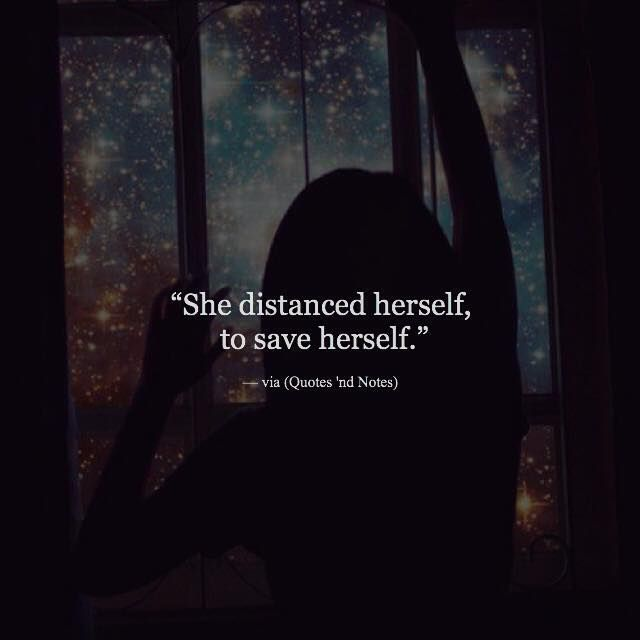 She distanced herself to save herself. via (http://ift.tt/29RNRZA)