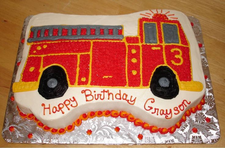 fire+truck+cake+ideas | Fire Truck