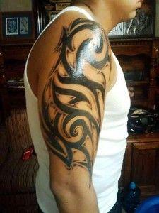 knot-tribal-men-tattoo-Full-arm