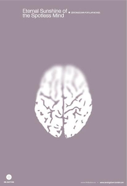 Eternal Sunshine of the Spotless Mind  Poster Art   by Mr Button + Zeroingdown