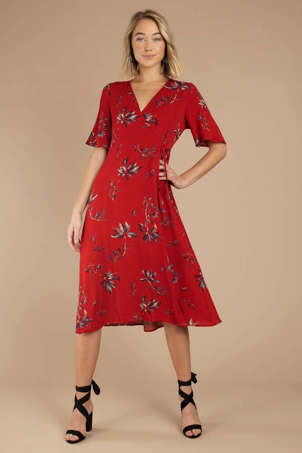d813e863139a2 Irresistible Wrap Midi Dress in 2019 | Trunk Club | Long midi dress ...