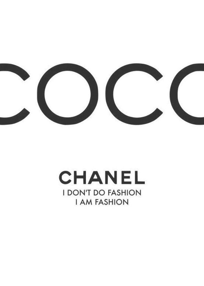 Framed Coco Chanel Print Affiche Chanel Affiche De Mode Photo A Imprimer