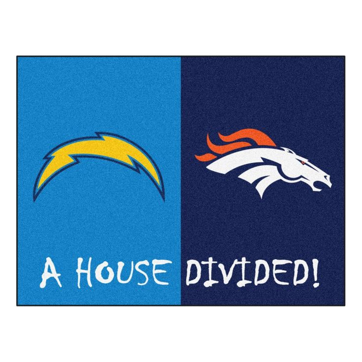 Denver Broncos vs San Diego Chargers Rivalry Rug