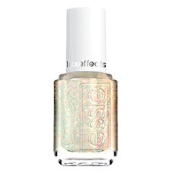 Essie's Shine of the Times is a clear topcoat with multichromatic glitter flakies. Looks good over nearly every color