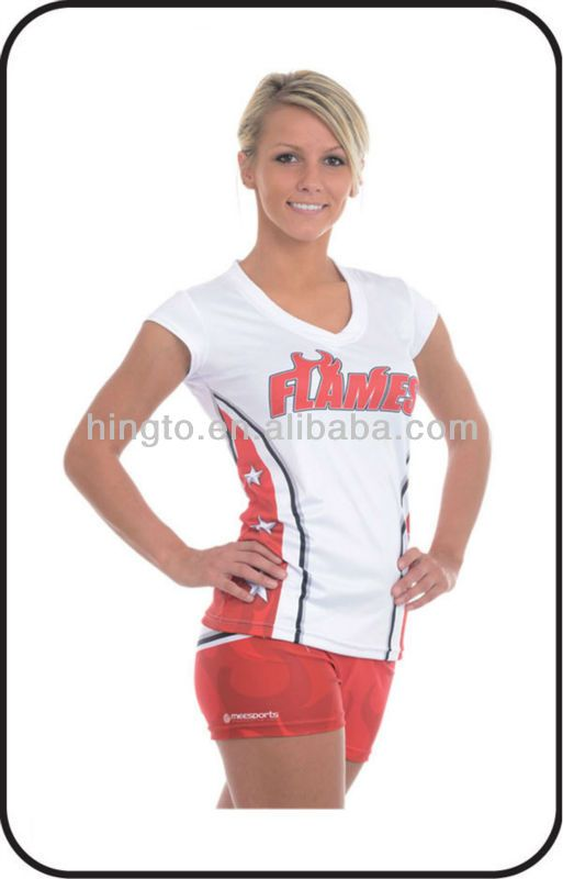 Custom Made Sublimation Wholesale Cheer Practice Wear Uniforms Cheer Clothing for Ladies $7~$10