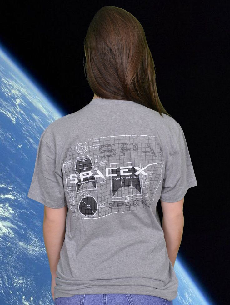 SPACEX DRAGON CAD DRAWING - ADULT UNISEX