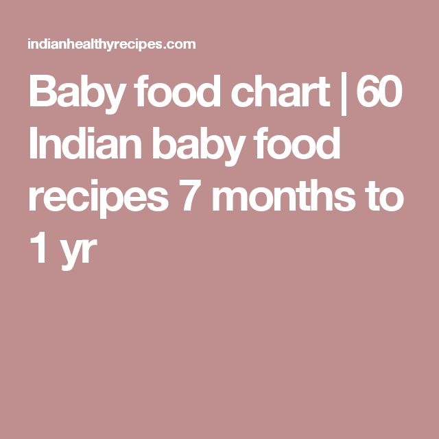 Food Chart For 6 Month Old Indian Baby 6 Month Baby food chart6