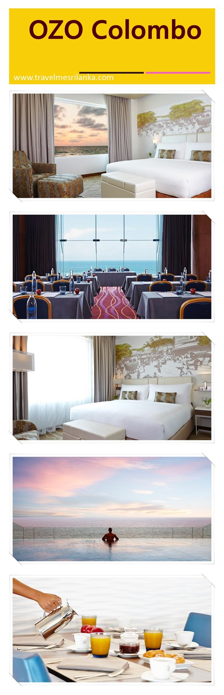 In one word OZO Colombo(★★★★) is modern luxury.This hotel in Sri Lankaoffers ample natural sunlight and sweeping sea views in some rooms.It is  33 km away from Bandaranaike International Airport and airport shuttle services can be arranged.Check the link to book it now or save it for later