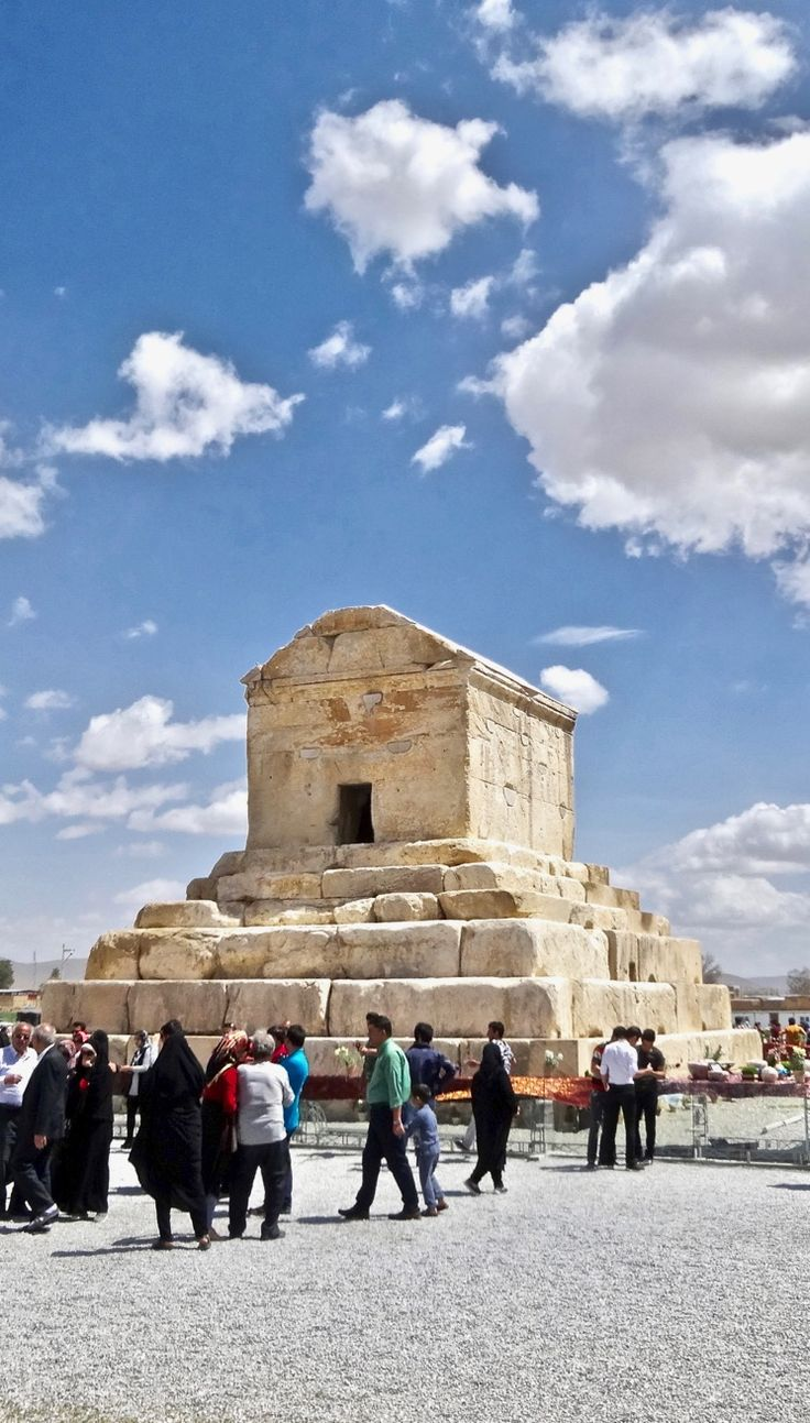 The tomb of Cyrus the Great at Pasargadae, Iran