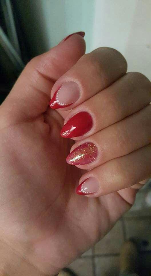 French rosso scuro glitter