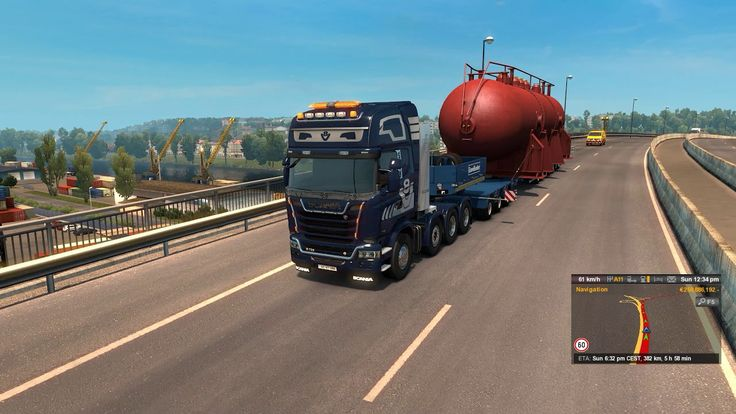 [Special Transport DLC] ETS2 - Heat Exchanger (70t) from Nantes to Civau...