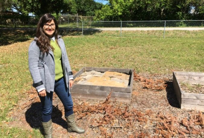 Rosaline Cabrera and her friend came up with the 'Backyard Community Garden' idea about a year ago. (Stephanie Claytor, Bay News 9)