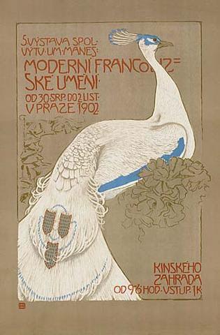 Jan Preisler, Poster for an exhibition of Fench modern art organised in Prague, 1902