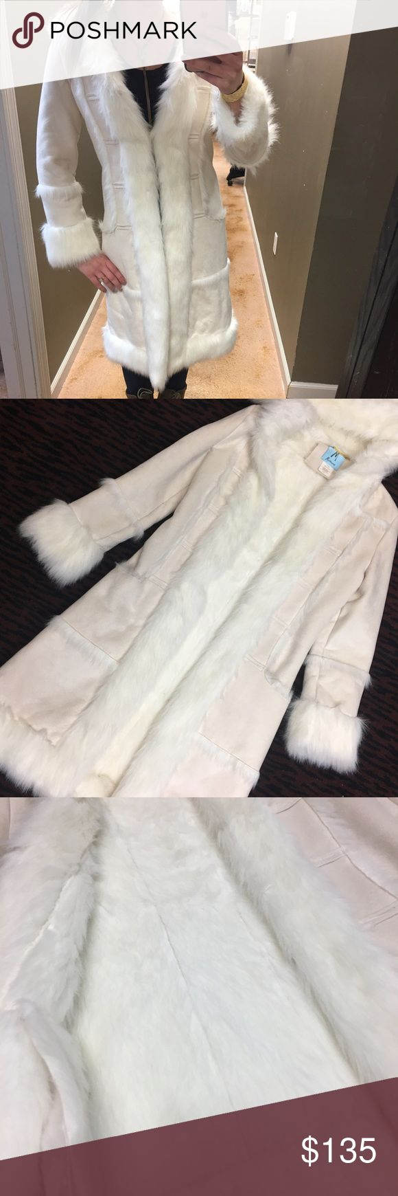 Guess Marciano Faux Fur Heavy Coat Amazing condition basically no signs of wear. It would fit anyone XS-S. Guess by Marciano Jackets & Coats Pea Coats