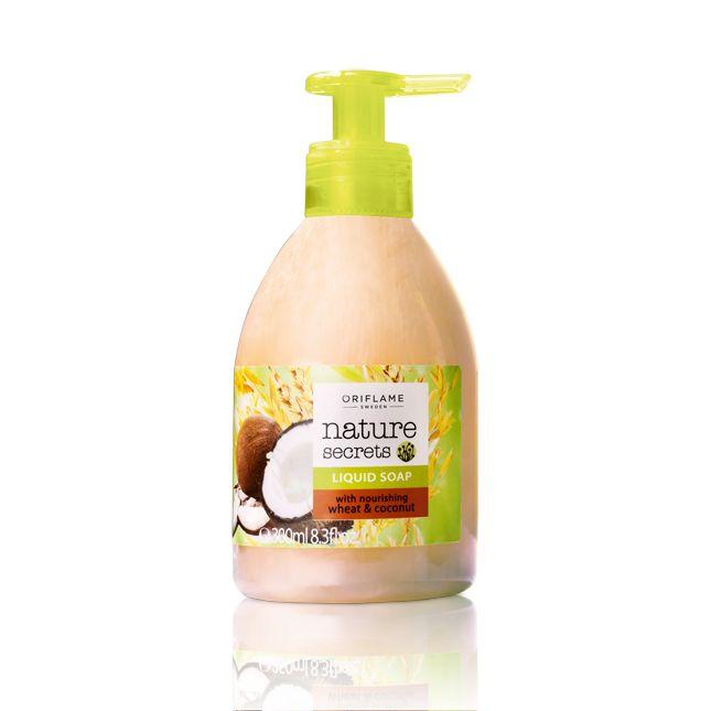 Jabón Líquido Nutritivo con Trigo y Coco Nature Secrets. 300 ml para lavar tus manos con suavidad ahora por 2,95€. Puedes adquirirlo escribiendo a distritocolor@gmail.com