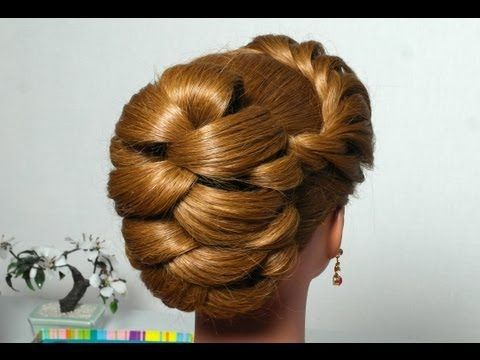 Bridal prom updo hairstyle for long hair. - YouTube