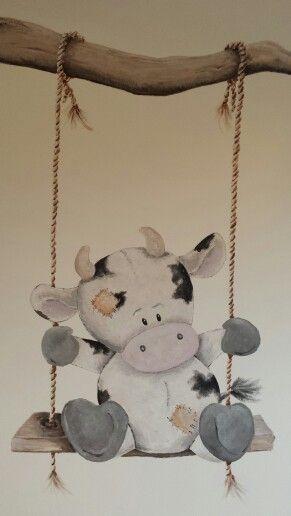 Koe op schommel