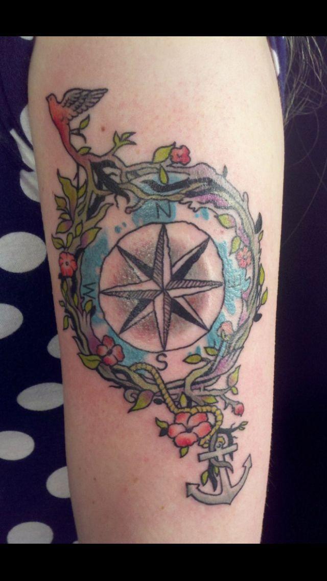 1000 id 233 es sur le th 232 me feminine compass tattoo sur pinterest