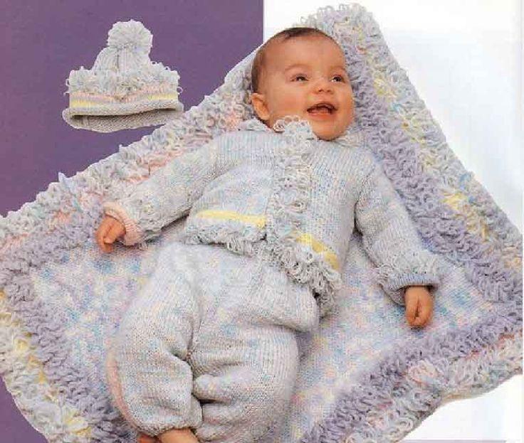 вязание спицами для детей от 0 до 6 месяцев