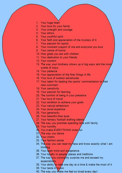 40 Reasons Why I Love You