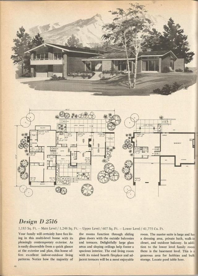 vintage house plans mid century homes vintage home plans