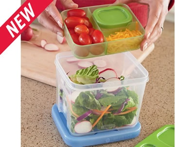 LunchBlox™ Salad KitFood Storage Containers, Salad Kits, Lunchblox Salad, Pack Lunches, Lunches Bags, Lunches Boxes, Lunches Ideas, Products, Rubbermaid Lunchblox