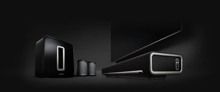 ROCK YOUR HOME THEATER with the Wireless HiFi System from Sonos. You can create your perfect home theater system by using  four versatile performers – PLAYBAR, SUB, and a pair of rear speakers. This set up will give you immersive 5.1 sound. And with it? The power to play anything and make it sound amazing.