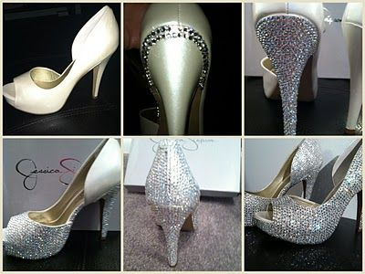 Love this! I'm blinging out a pair of black satin heels for Vegas. It's taking forever. Should look pretty though!!: Diy Shoes, Diy Wedding Shoes, Lovelygirls Weddings, Bling Shoes Diy, Diy Bling Shoes, Diy Bling Wedding Shoes, Diy'S, Sparkle, Wedding Events