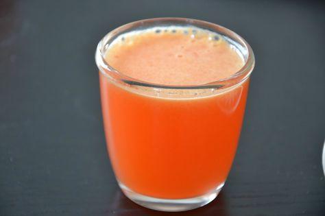Brændstof: BRÆNDSTOF JUICE LAB: Morgenjuice med jordbær, appelsin & ingefær (sundhedsboost)