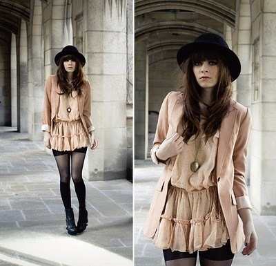 I WANT: Perfect Styles, Vintage Dresses, 100 Dresses, Nudes Dresses, Cream Dresses, Neutral Color, Street Styles, Fall Outfit, Derby Hats