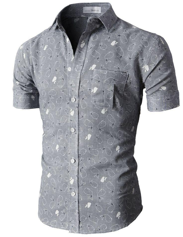 Doublju Casual Button-down Shirts Short Sleeve (KMTSTS018) #doublju