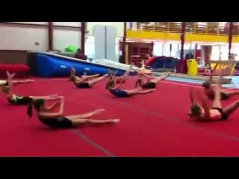 crazy gymnast workout. if 10 year old girls can do it, you can too!