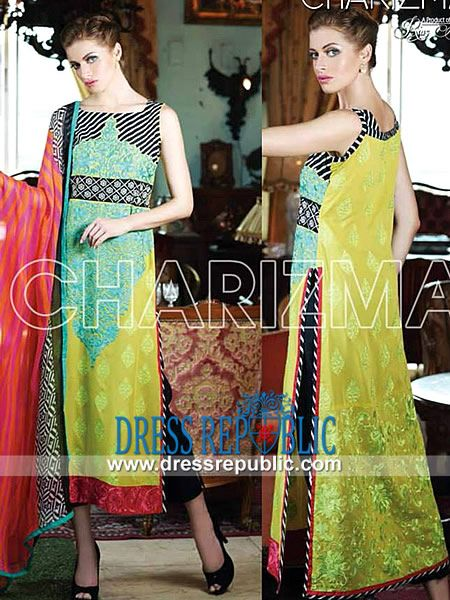Charizma Summer Spring Lawn Prints 2014 by Riaz Arts Charizma Volume 2 Designer Lawn Suits Online in Milton, Vaughan, Markham and Ottawa, Ontario Canada. Deep Discounts for Wholesale B2B Buyers. by www.dressrepublic.com