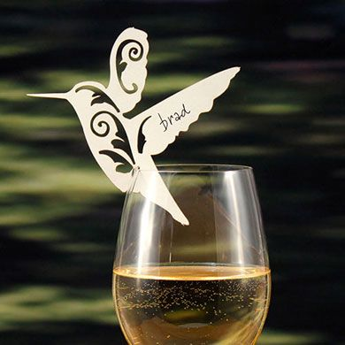 Laser Expressions Hummingbird Die Cut Card - http://www.weddingstar.com/product/laser-expressions-hummingbird-die-cut-card