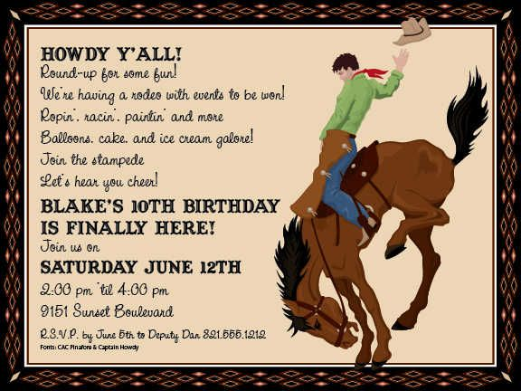 113 best images about Party Western theme – Cowboy Party Invitation Wording