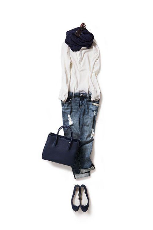 Kyoko Kikuchi's Closet | 夏のスタイルに秋の素材を加えたカジュアル