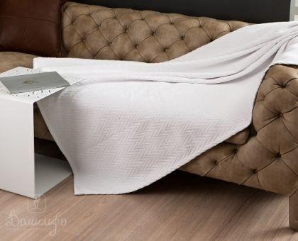 Купить покрывало из индийского хлопка ЭНДЖЕЛ белое 160х220 от производителя Arloni (Индия)