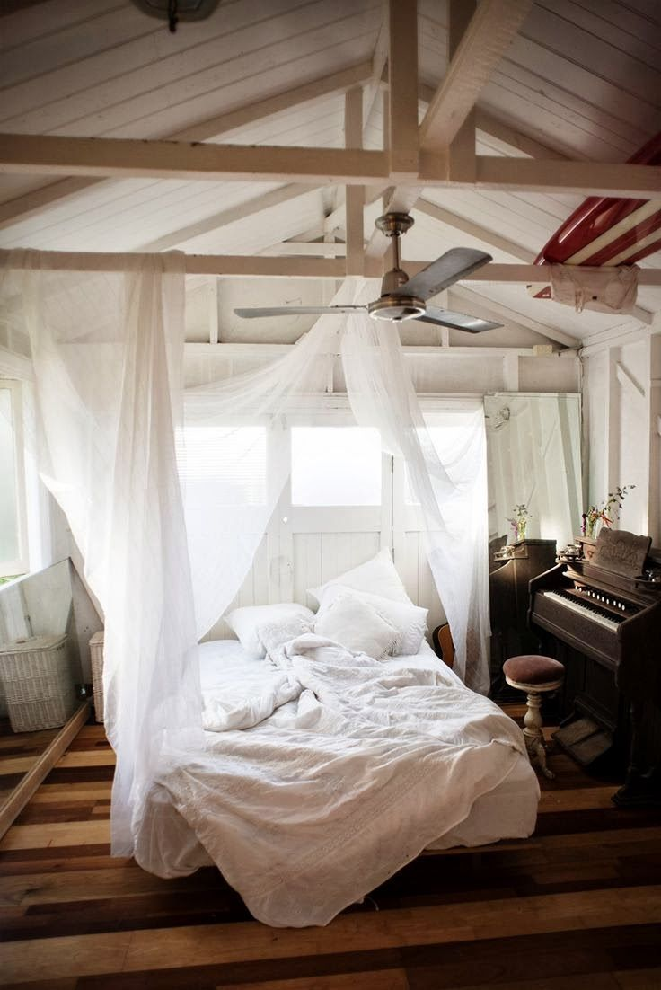 25 Ways To Rethink Your Bed From Pinterest | StyleCaster. I want everything about this room.