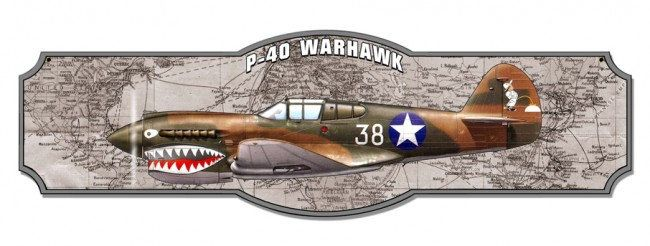 Hand Made in the USA with American Steel P-38 Lightning Plasma Metal Sign