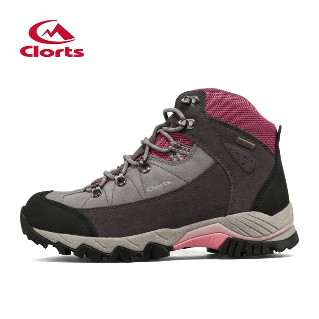 2016 Clorts Women Trekking Shoes Waterproof Hiking Boots Breathable Non-slip Outdoor Climbing Shoes 3B010A