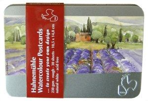 Hahnemuhle Watercolour Paper Postcard Tins