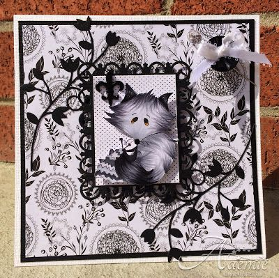 ONECRAZYSTAMPER.COM: Silver Fox by #OCSDT Aaemie using #HighHopesStamps Foxy Knitter (S511)