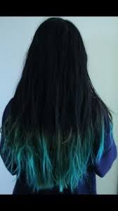 Resultado de imagen para cabello castaño oscuro con puntas azules