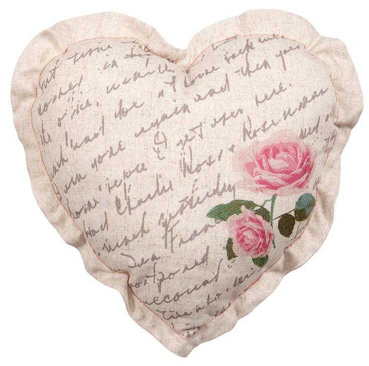 Sierkussen Florentien Hart: een gezellig kussen voor op de bank of op bed #romantisch
