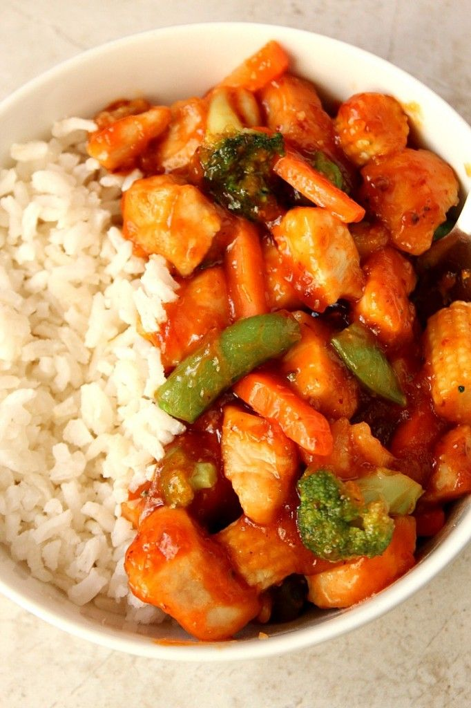 Quick Honey Chipotle Chicken Rice Bowls Recipe - sweet and spicy chicken with honey chipotle sauce, vegetables and served over rice. Quick, easy and flavorful!