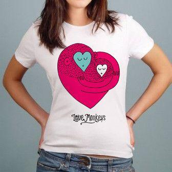 Love Monkeys - Gals T-shirt