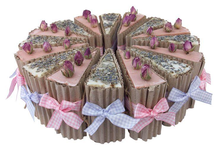 Lavender & Rose Geranium Soap Slices ~ Neat, pretty & Cool