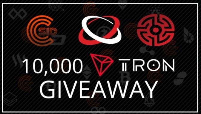 Cryptoosid 10 000 Tron Coin Giveaway Win 10 000 Tron Coins With Images Giveaway Tron Sweepstakes